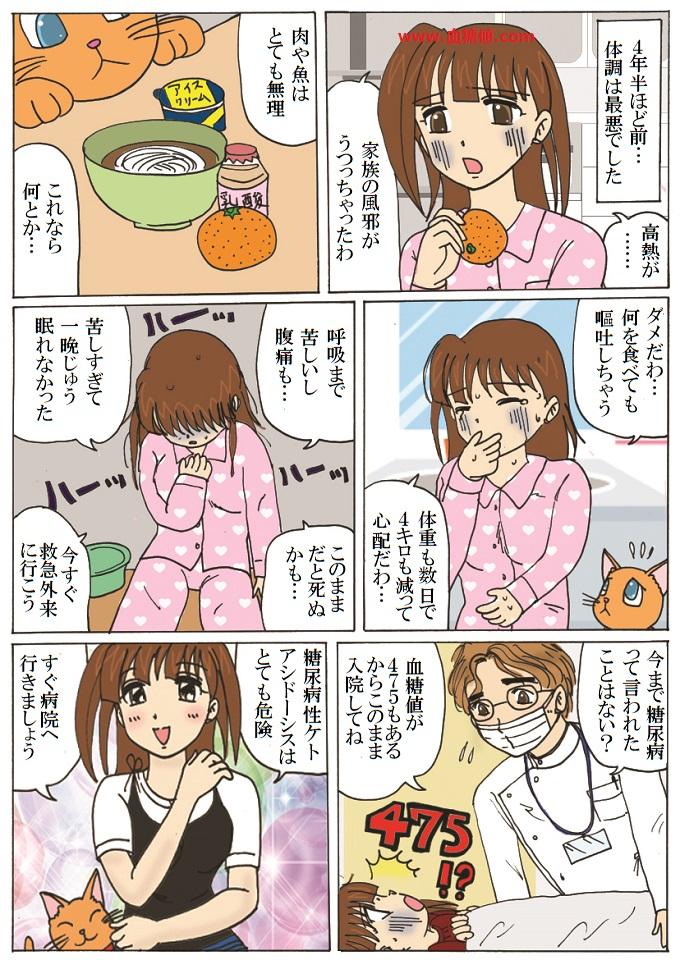 糖尿病性ケトアシドーシスの漫画